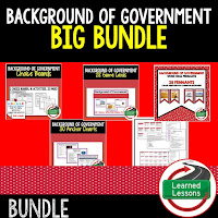 Background and Types of Government, Civics Mega Bundle, Government Mega Bundle, Civics and Government Curriculum, Anchor Charts, Games, Digital Interactive Notebook, Google Classroom, Word Wall, Choice Boards, Guided Notes, PowerPoints, Test Prep, Document Based Questions
