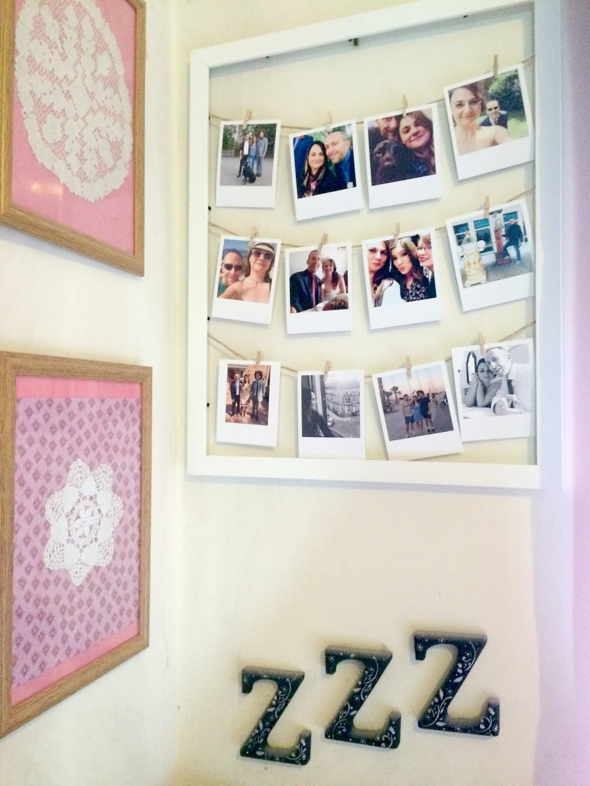 Pinterest worthy photo display using Instagram photos