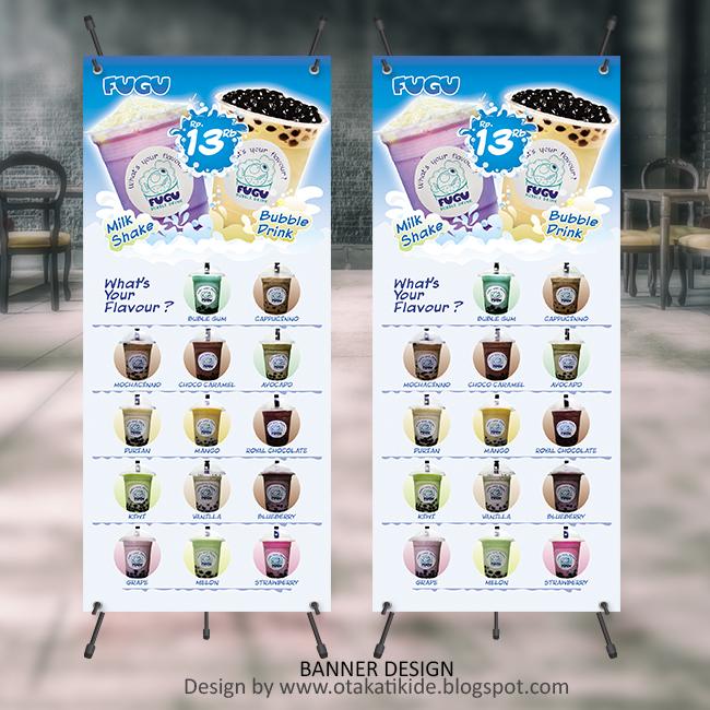 X-Banner Produk Minuman - Otakatikide