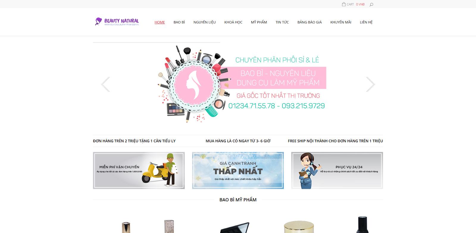 Image result for website mỹ phẩm handmade