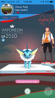 Pokemon Go seen while running