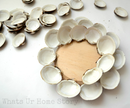 Diy Seashell Projects Linkshare Clam Shell Candle Holer Wood