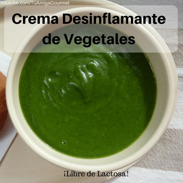 crema desinflamante de vegetales