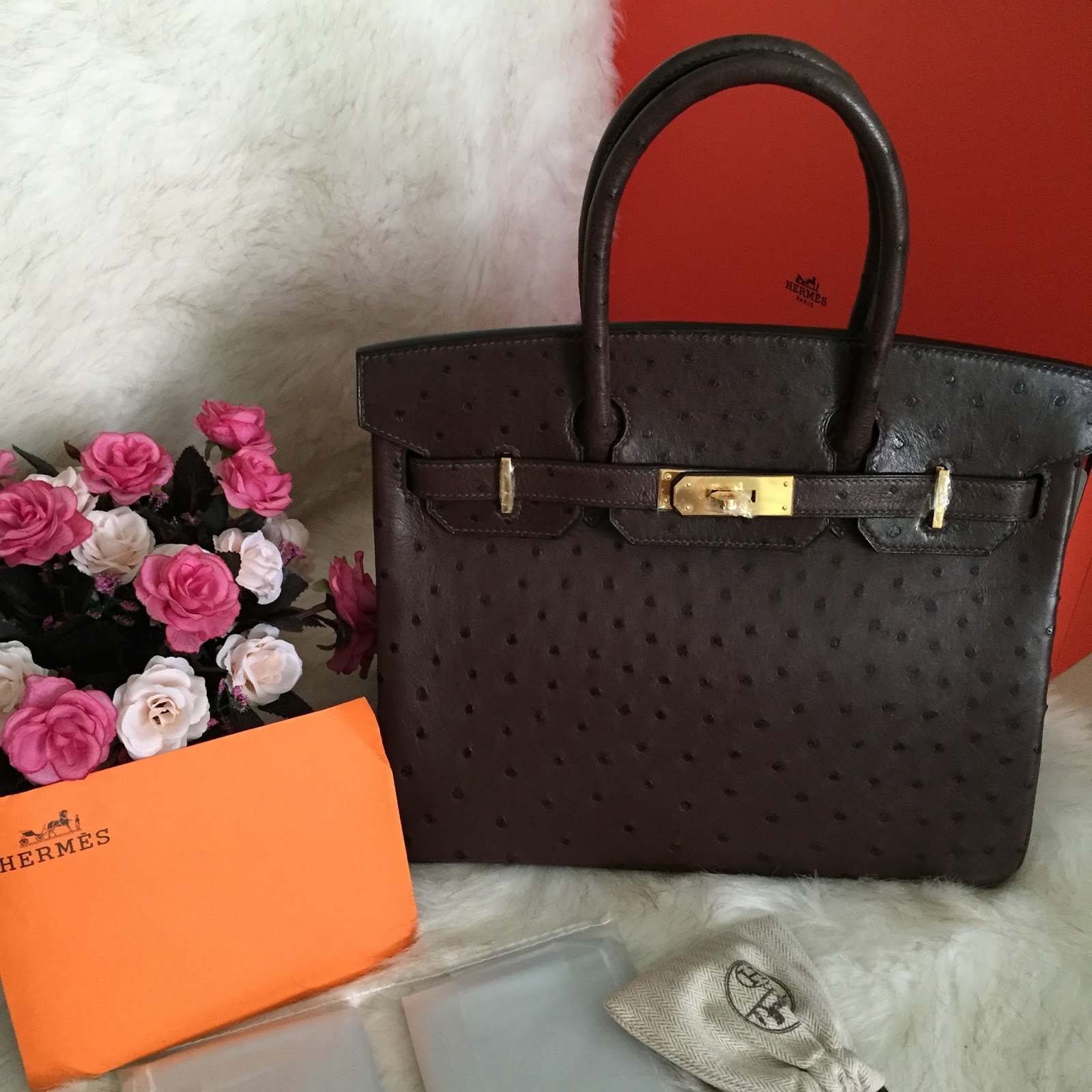 bd5a196c37eb Pre shipment photos of Hermes Birkin 30cm Bag Ostrich leather chocolate  with Gold Hardware