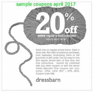 Dress Barn coupons april 2017