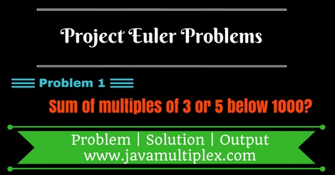 Project Euler Problem 1 Solution in Java