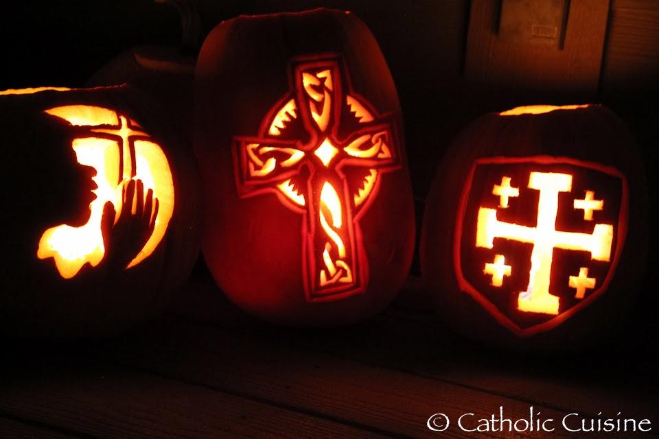 Catholic Halloween Pumpkins
