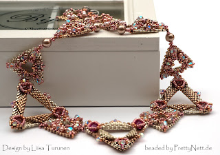 "Necklace ""Serval"" beaded by PrettyNett.de"