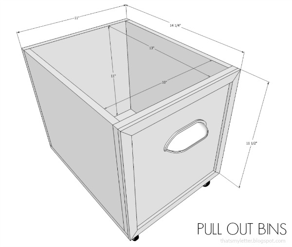mudroom bench pull out bins free plans
