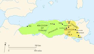 Map of Numidia 230 BC