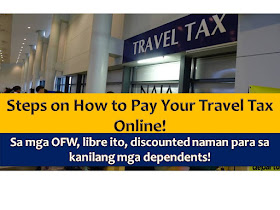 According to Presidential Decree 1183, as amended, a travel tax also known as departure tax is imposed or collected when you leave the Philippines regardless of your country destination.  For Overseas Filipino Workers, they are exempted in paying travel tax and their dependents may enjoy the Privileged Reduced Travel Tax.  1. How much is the travel tax?  Individuals may be charged the full travel tax, standard reduced travel tax, and the privileged reduced travel tax: