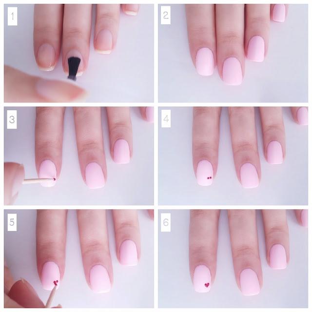 Εύκολο nail art tutorial για την ημέρα του Αγίου Βαλεντίνου (χωρίς εργαλεία)