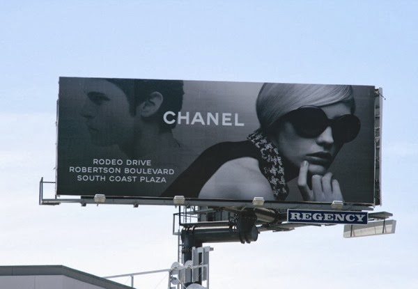 Chanel eyewear billboard Sunset Strip
