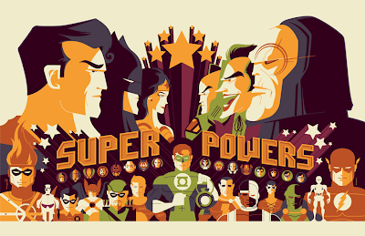 Sideshow Collectibles x Mondo Super Powers Screen Print by Tom Whalen