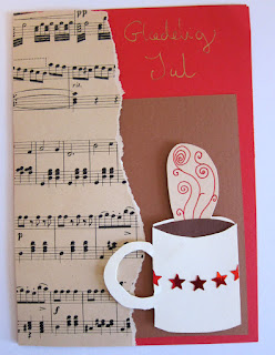 Christmas card with cup