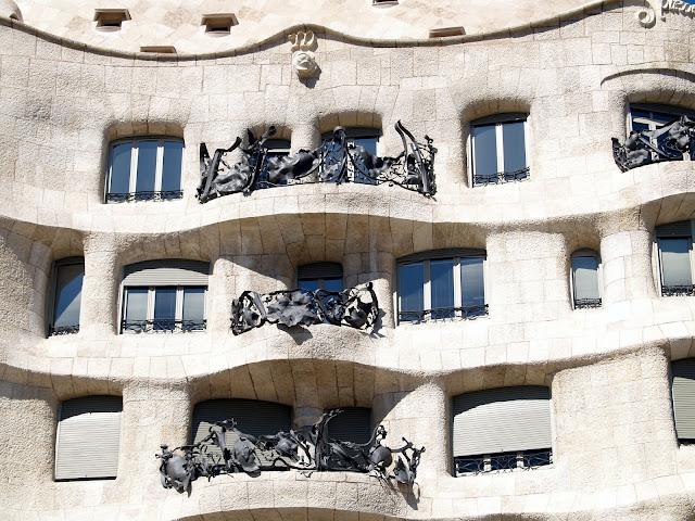 Detalle de la Casa Milà de Antoni Gaudí