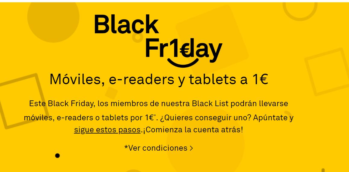 BQ Black Friday terminales por 1 euro