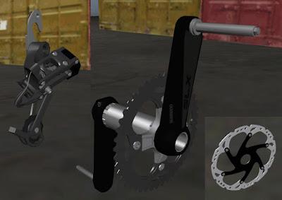gta sa mod tuning mod 3d parts bicicleta coroa marcha disco freio pedal