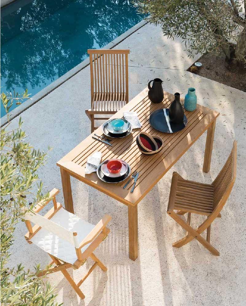 tavolo e sedie da giardino teak Unopiù