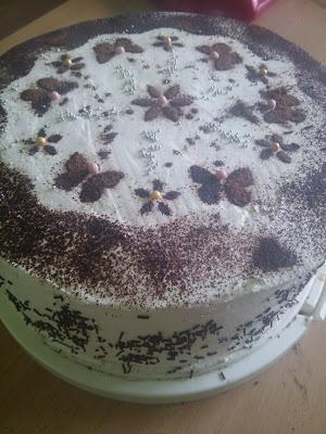 Leśny tort urodzinowy