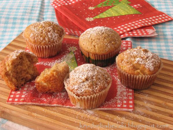 Muffinki z jabłkami i cynamonem wg Nigelli