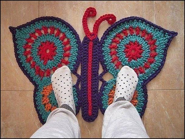 Tejidos a crochet ganchillo patrones alfombra con for Tejidos de alfombras