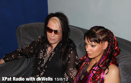 Anna-Christina and Belle Star from Lilygun being interviewed on XPat Radio photo