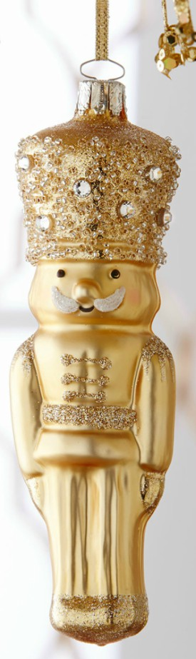 Horchow Golden Nutcracker Ornament