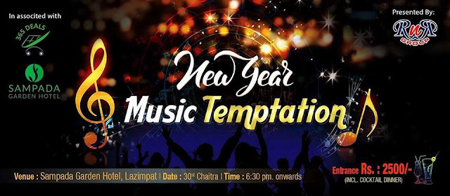 New Year Music Temptation in Sampada Garden Resort