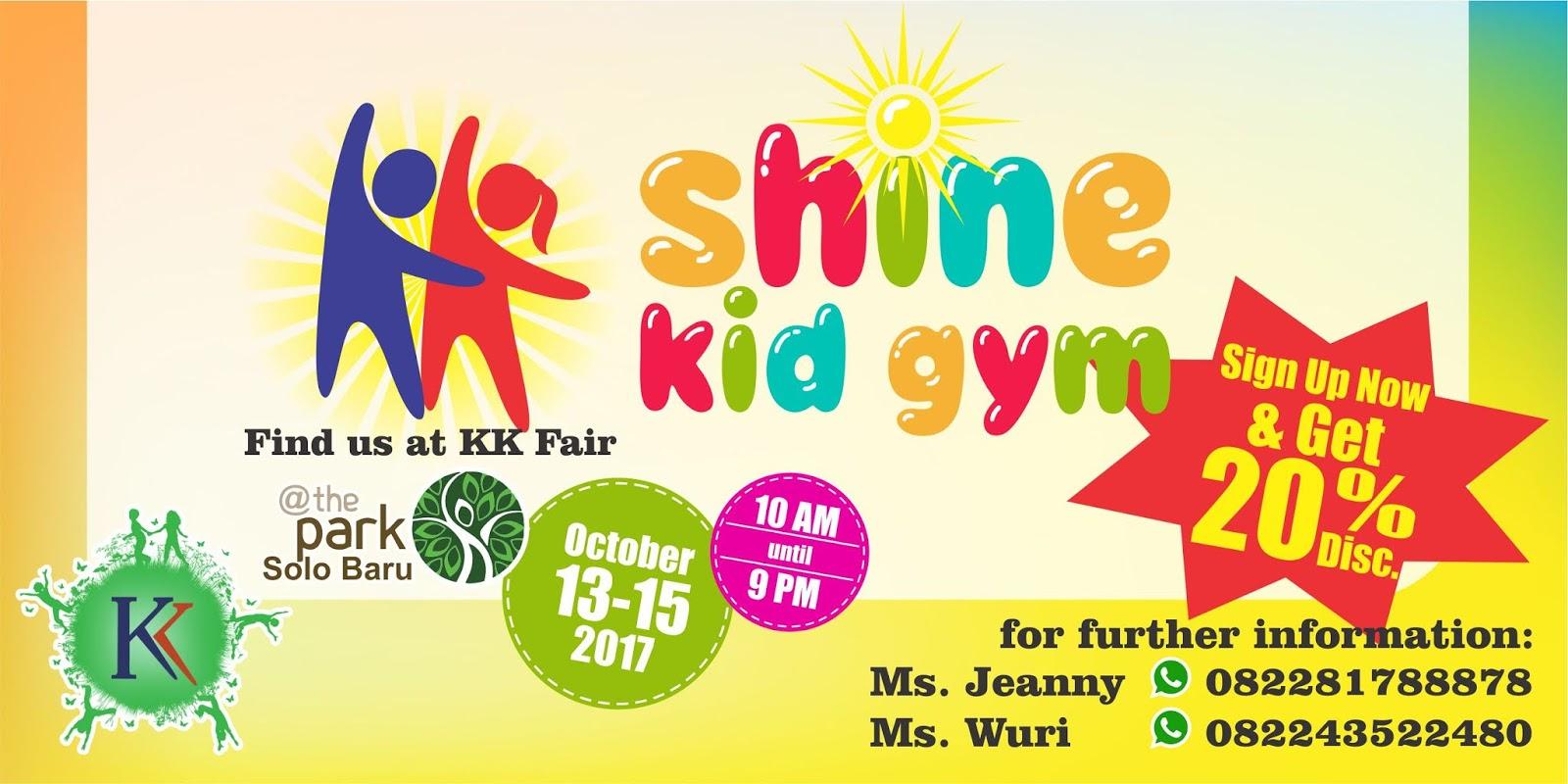 Buka Pendaftaran di KK Fair, Shine Kid Gym Berikan Diskon 20%