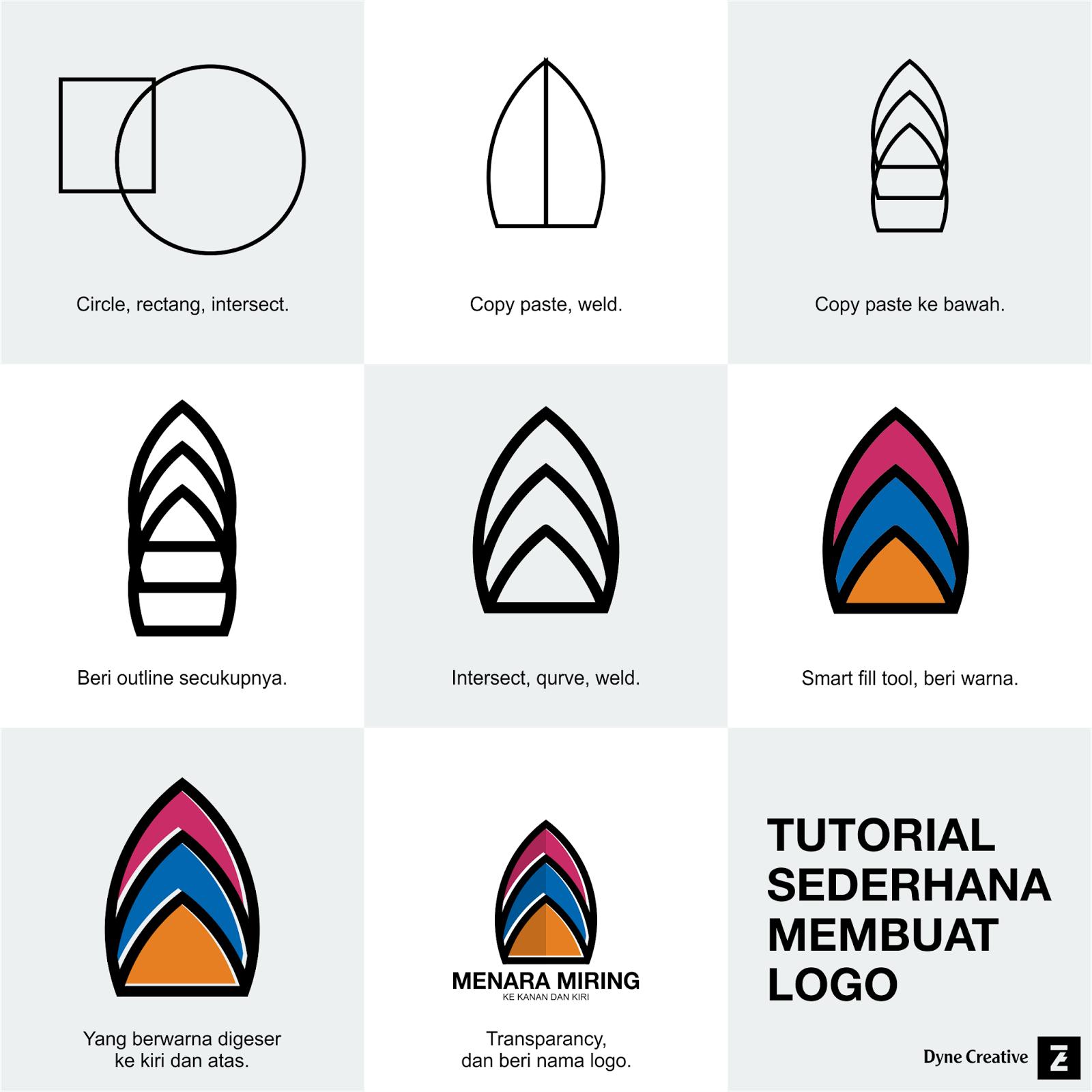 Dyne Creative Studio: Tutorial sederhana membuat logo.