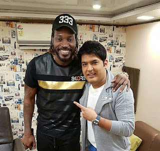 Kapil Sharma With Cricketer Chris Gayle Photos