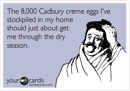 Image result for cadbury eggs meme