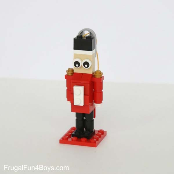 Lego Christmas ornament - how to make a nutcracker