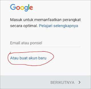Cara Membuat Email Gmail di Android 5