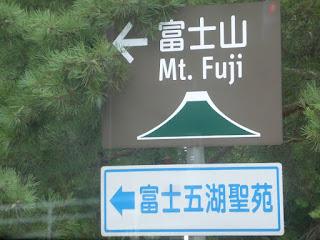 Indicación al Monte Fuji