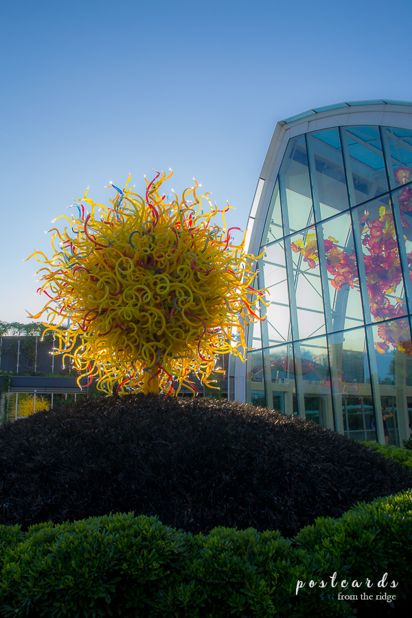 Sun sculpture at Chihuly Art and Gardens