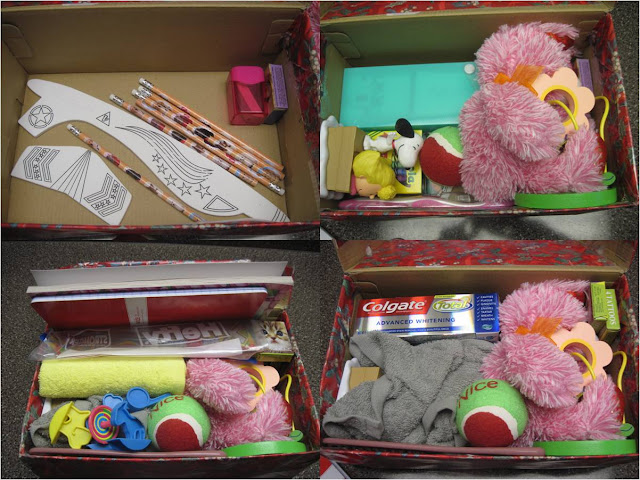 How to fit gifts into an Operation Christmas Child shoebox.