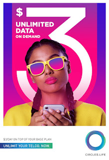 Source: Circles.Life. Poster for Unlimited Data on Demand.