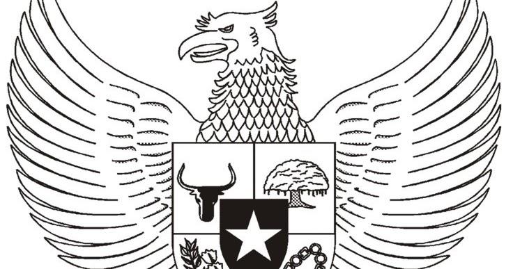 38 Gambar Hitam Putih Burung Garuda Inspirasi Terpopuler