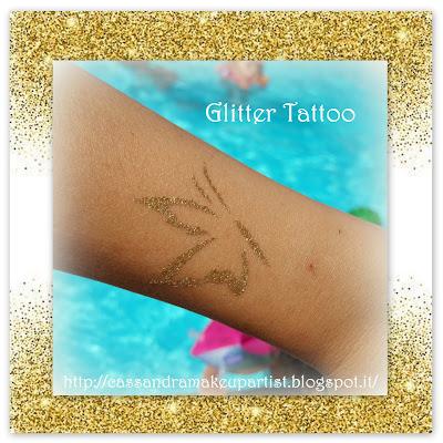 Glitter Tattoo - tutorial - brillantini - porporina - sparkling - tatuaggio - farfalla - butterfly