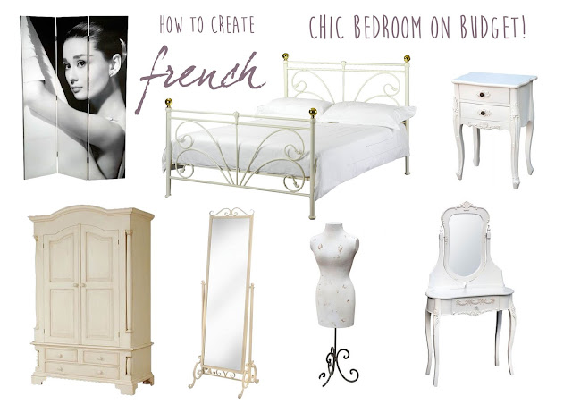 how to create french chic bedroom style on budget