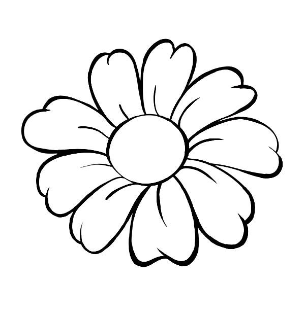 jolie fleur pour dessiner