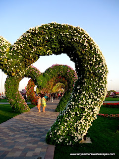 heart-shape flowers at Dubai Miracle Garden
