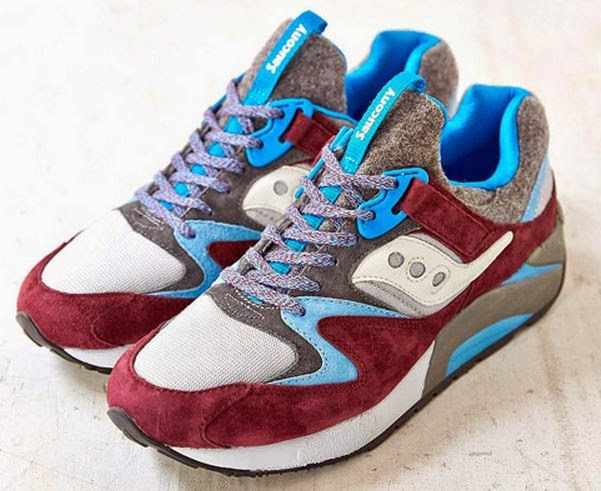 "innovative design 1a023 b7f16 ... Saucony Grid 9000 ""Italia"" Burgundy Grey Sneaker Available Now HERE ,  these are definitely gonna pop nice on feet with this unique blend of  colors."