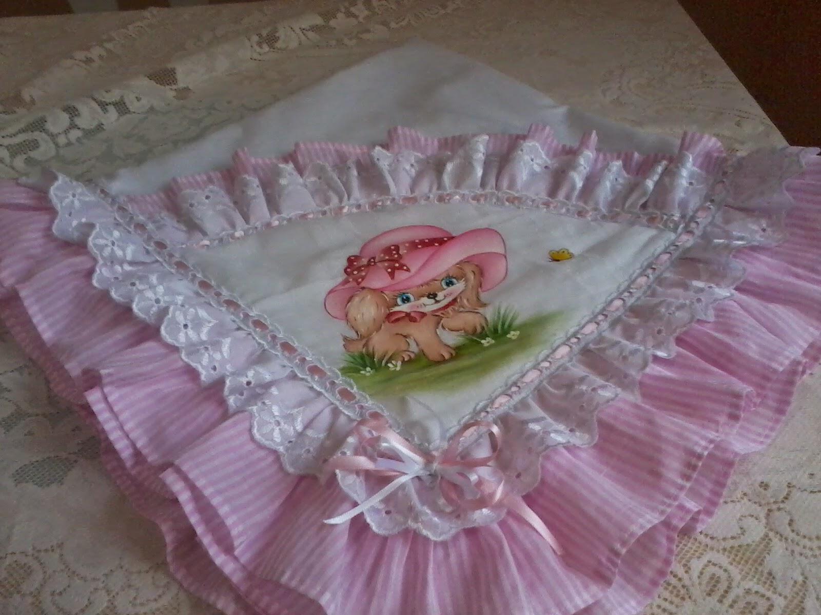 Angela fraldas mantas para bebe pintada a m o for Beb it