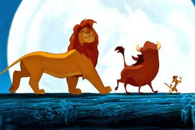 simba, pumba e timão da animação o rei leão