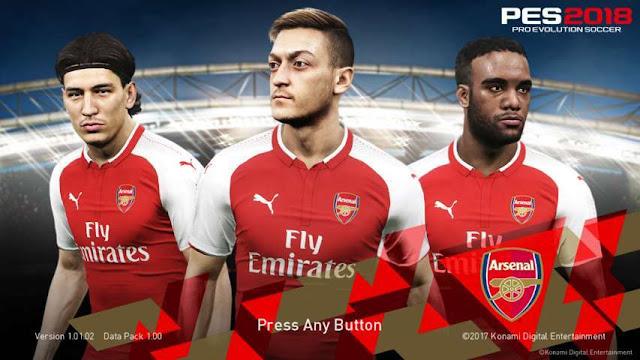 Arsenal Start Screen PES 2018