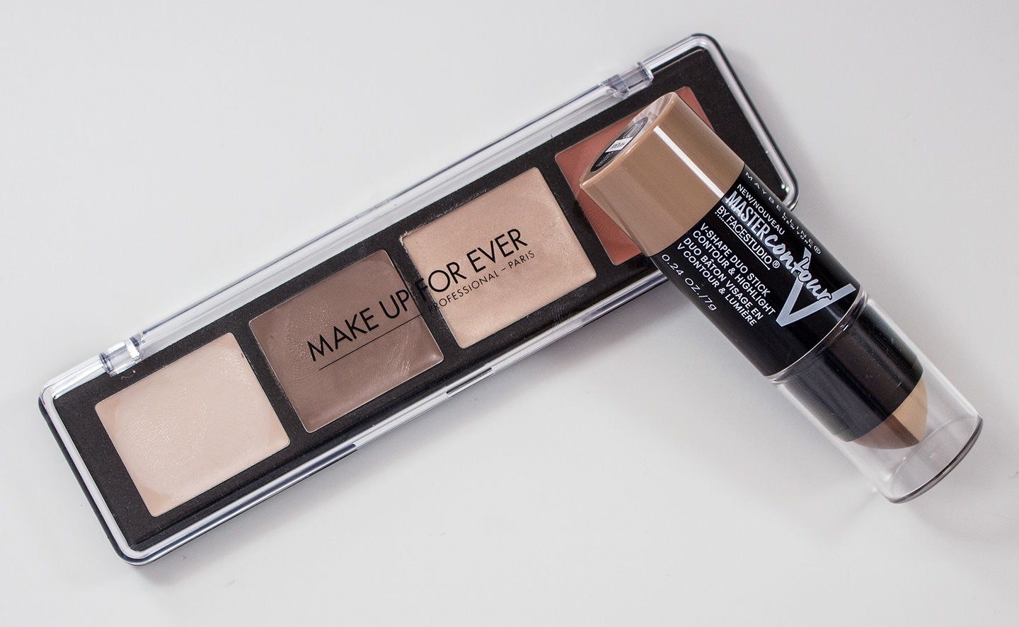 Warpaint And Unicorns Dare To Compare Make Up For Ever Pro Meyne V Face Sculpting Palette In 20 Light Vs Maybelline Facestudio Master Contour Highlight Shape Duo Stick