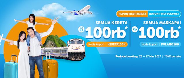 Traveloka Promo Mudik Diskon Tiket Pesawat dan Diskon Tiket Kereta
